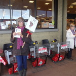 Nancy and Lynn at Safeway Food Drive 2012