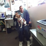Volunteer Anthony with Ralf
