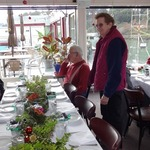 Pete and Mary at Volunteer Appreciation Lunch at Silver's