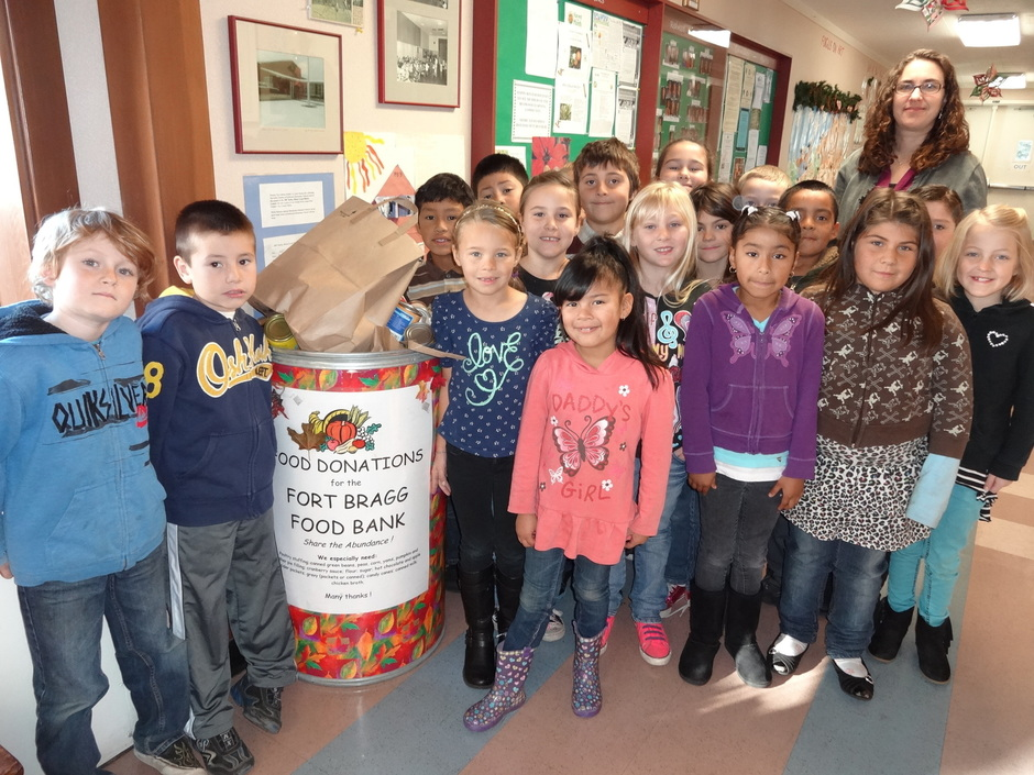 Redwood Elementary Food Drive 2013