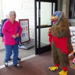 Turkey Marty Greets Safeway Shopper