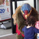 Turkey Marty with Young Safeway Shopper