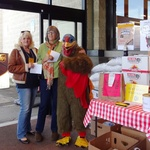 Turkey Marty and Volunteers Debbi and Nancy