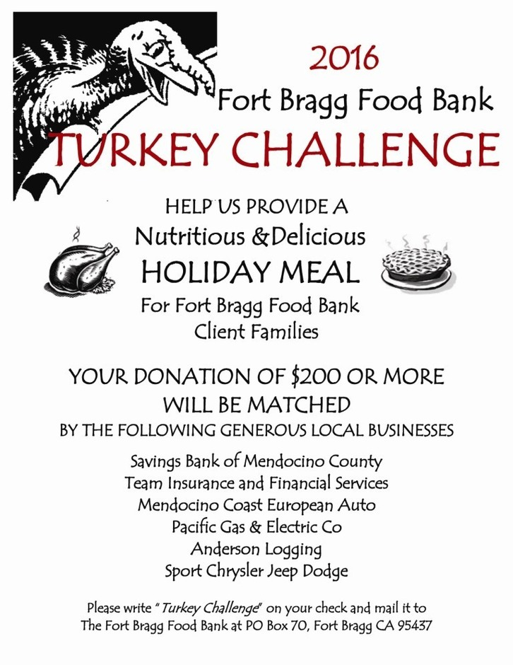 Fort Bragg Food Bank Turkey Challenge Food Drive