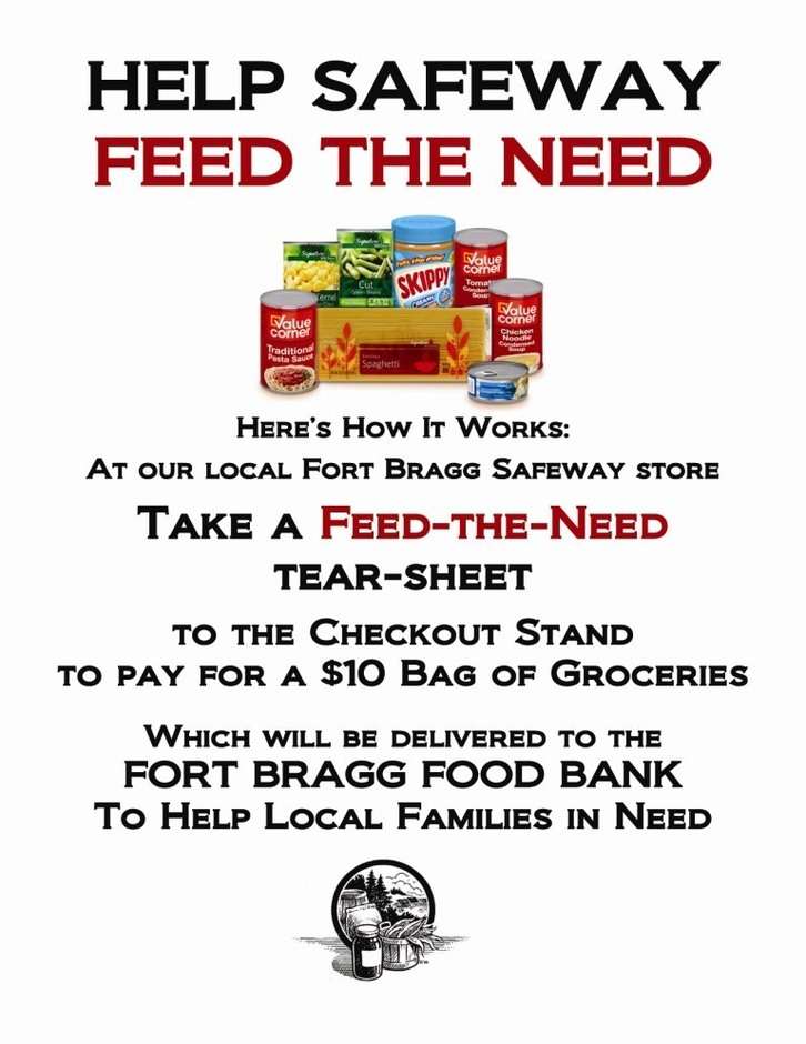 Safeway Feed the Need Food Drive for Fort Bragg CA