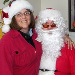 Nancy and Santa 2010