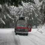 Food Bank Truck Stuck in the Snow!