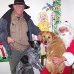 Jack, Pepper, Rex and Santa