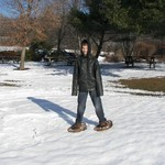 Trying out the Snowshoes!