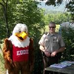 Eddie Eagle makes a visit