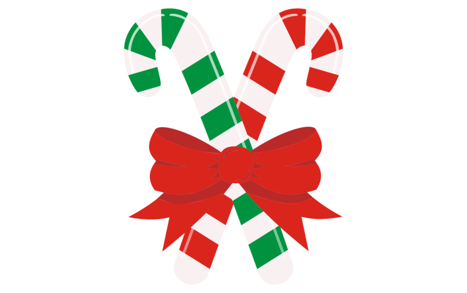 Candy Canes with Ribbon