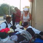 Volunteers Organizing Clothing