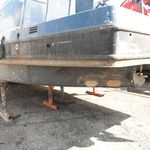 Wide beam Hull preparation and blacking