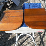 Sailing boat Teak Interior seating restoration.