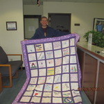Winner of Quilt Raffle