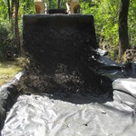 Covering with crushed stone