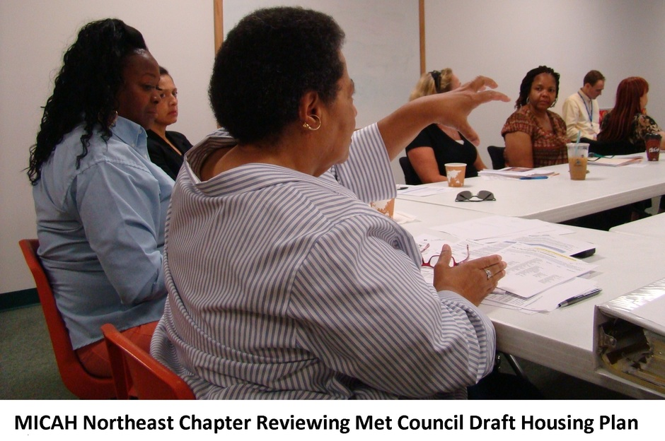 MICAH NE Chapter Reviewing Met Council Draft Housing Plan.JPG