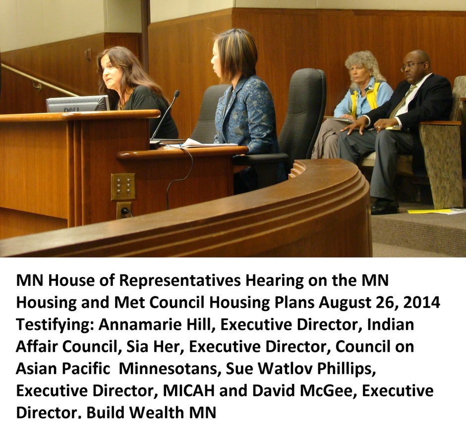 State Councils MICAH Build Wealth MN testifying on MN Housing an