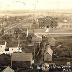 1910 Bird's Eye View of Milaca, MN
