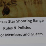 Range rules posted in office