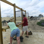 Having fun on the pistol range