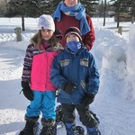 ready to snowshoe!