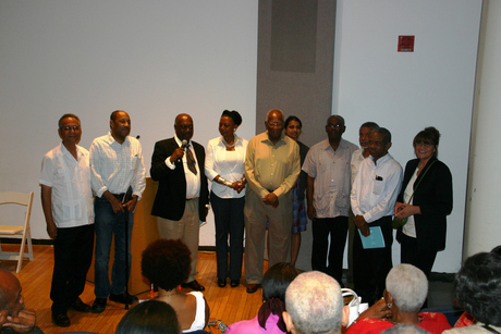 Members of the Support Committee and supporters