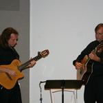 Joe Brintle and John Ducroiset provided musical entertainment