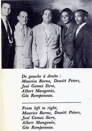 Geo Ramponneau with DeWitt Peters