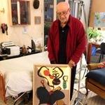 Herve Telemaque in his Studio