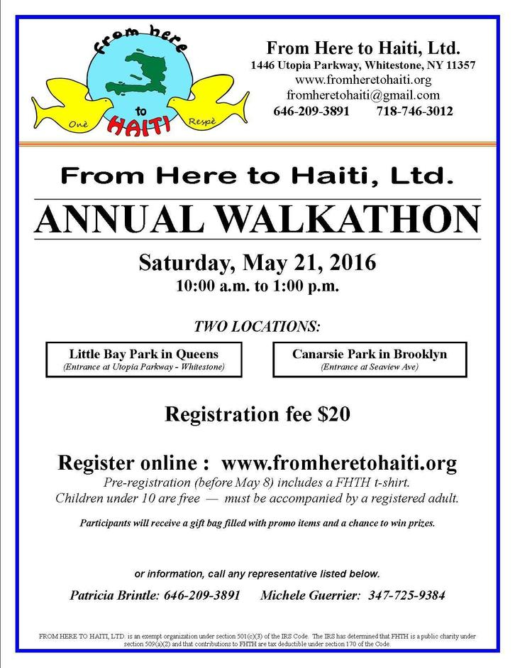From Here to Haiti Walkathon