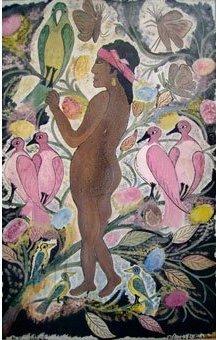 La Femme Aux Oiseaux by Hector Hyppolite