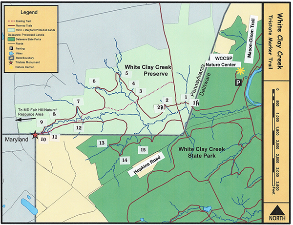 The TriState Trail Friends Of White Clay Creek Preserve - Us map with mason dixon line