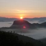Sunrise over Tham lod village