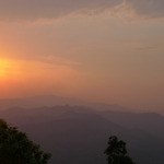 Sunset over Mae hong son
