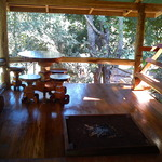 The deck at the Homestay