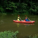 paddling down the Lang river