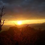 The sun rise