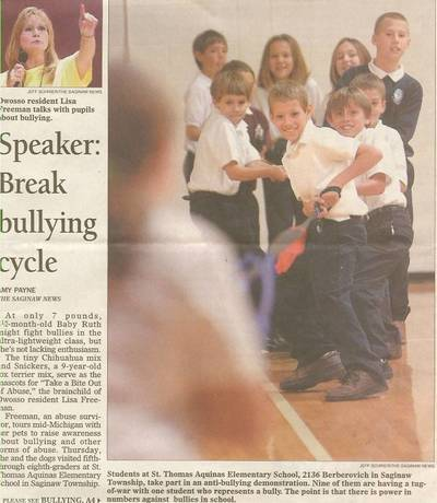 Lisa Freeman Bully Speaker Breaks Bullying Cycle in Michigan Schools