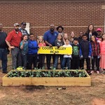 Students finished planting