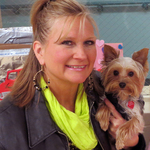 Lisa Freeman and her 1 1/2 year old teacup Yorkie, Lover, who has received his Canine Good Citizen Award, helps train other dogs, and will soon rec...