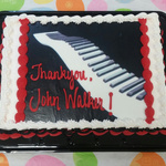 John Walker Musician~Thank You cake
