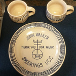 John Walker~Plate & Coffee cups hand made by Dave Huebner