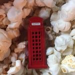 Waldo and Popcorn.  British Phone Booth