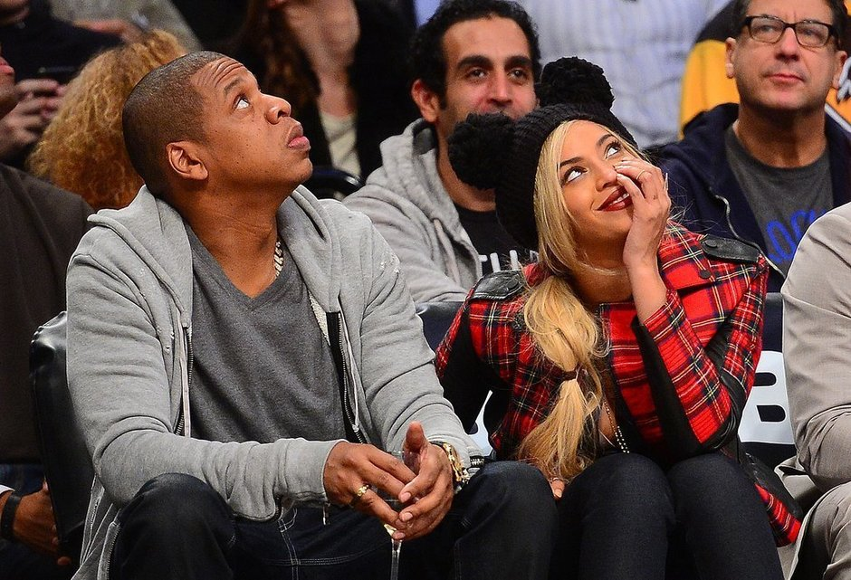 Bey and Jay nets game monday.jpg
