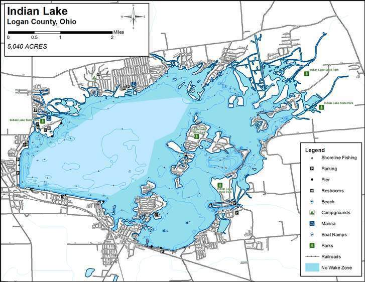 Indian lake map pictures to pin on pinterest pinsdaddy for Indian lake ohio fishing