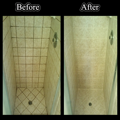 Before_and_after_color_seal_shower