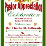 Pastor Appreciation Service 2018