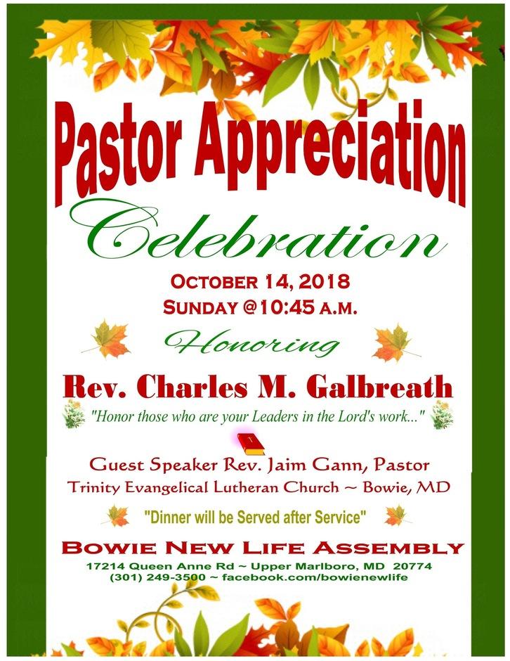 Pastor Appreciation 2018