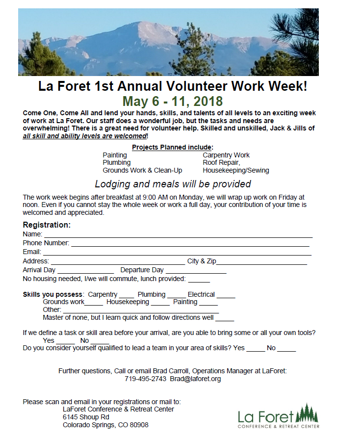 La Foret's First Annual Volunteer Week